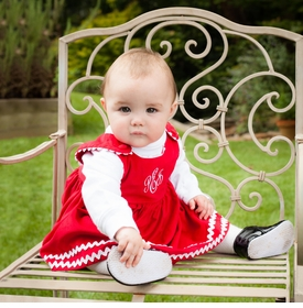 S Red Corduroy Dress W White Ric Rac