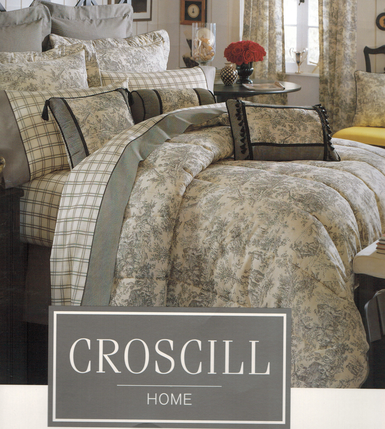 bedding comforter pin damask croscill closeout bed damasks by distinction