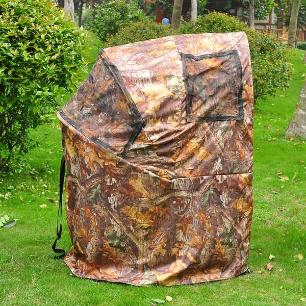 material leaf popup product itm outdoor blind tent hunting stalking shooting camo pop blinds foreveryhld dimensions polyester v up portable hide