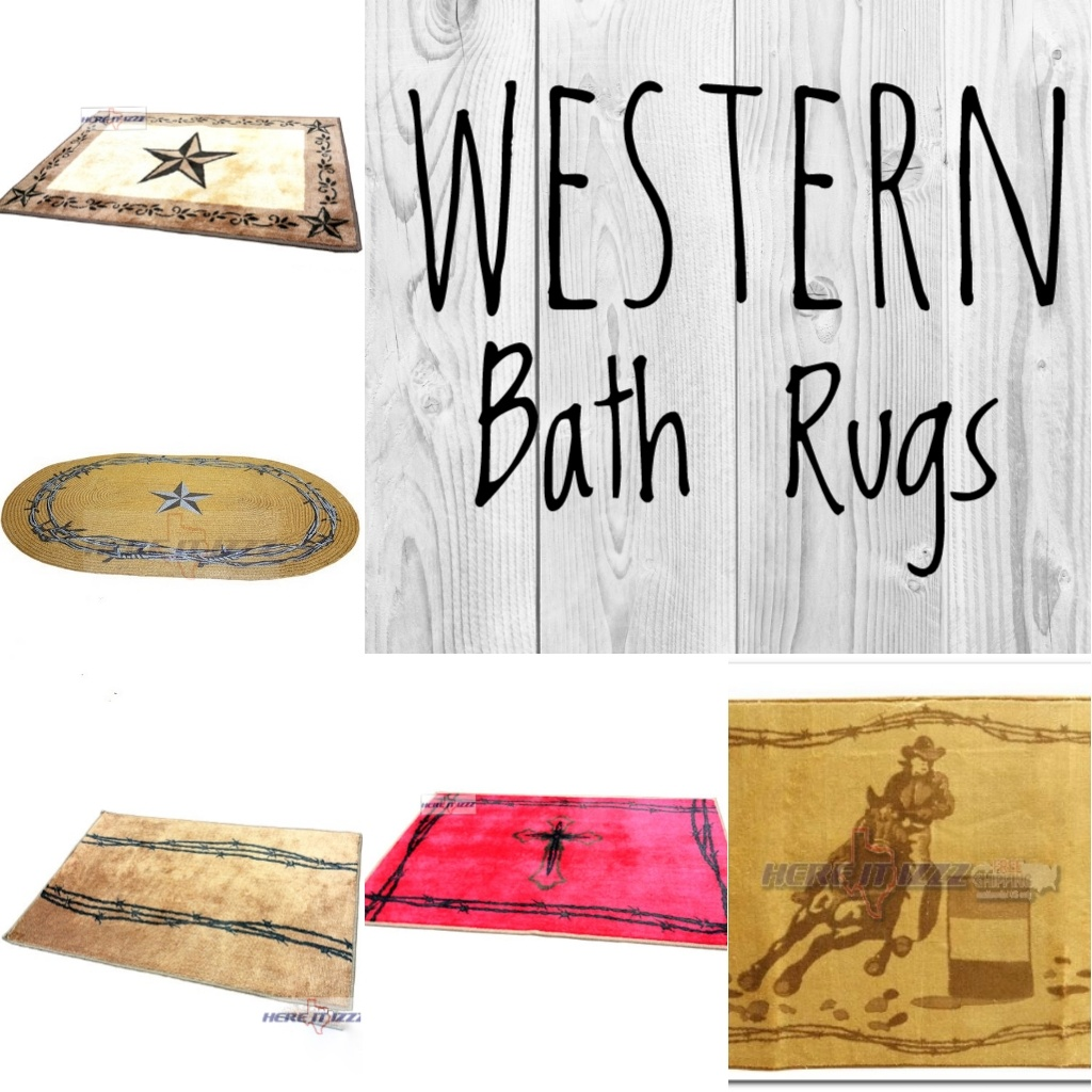 Western bathroom rugs