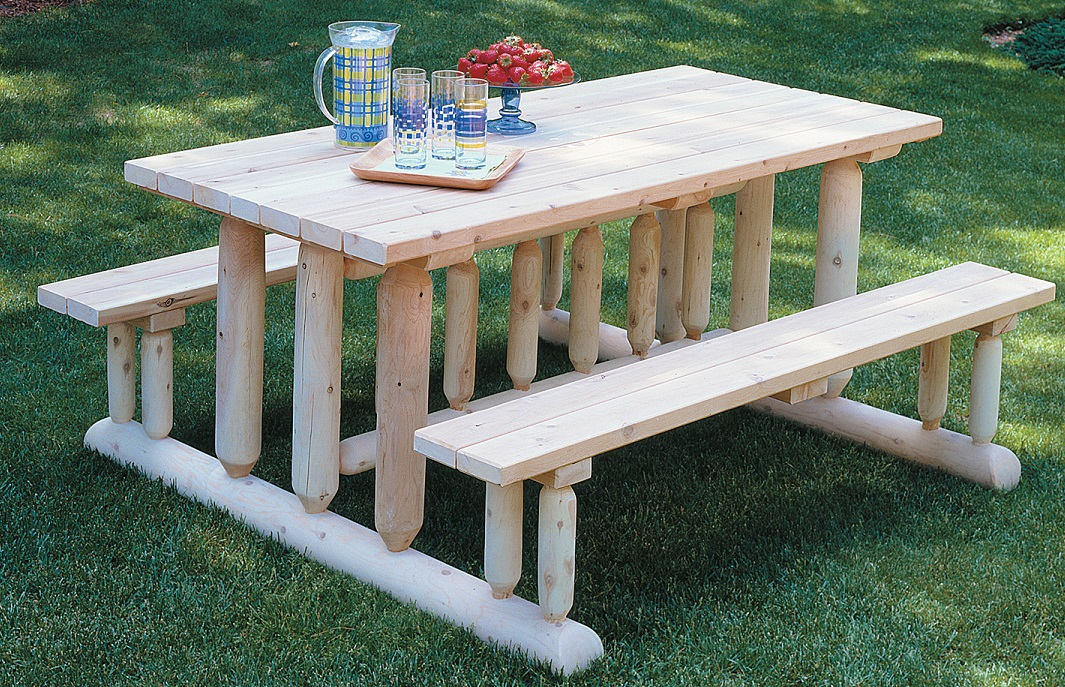 Picnic style table for