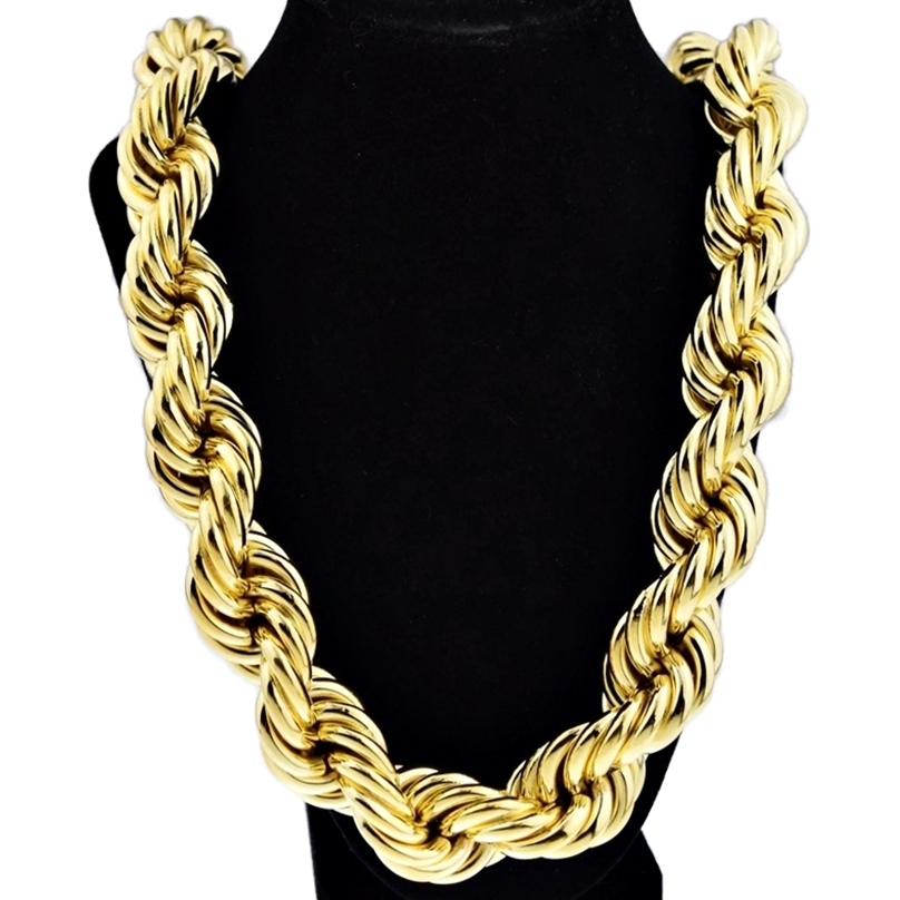 25 Mm 36 Gold Plated Rope Chain