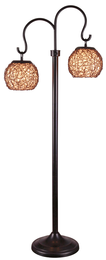 Castillo Outdoor Floor Lamp Shown In Bronze Finish By Kenroy Home.