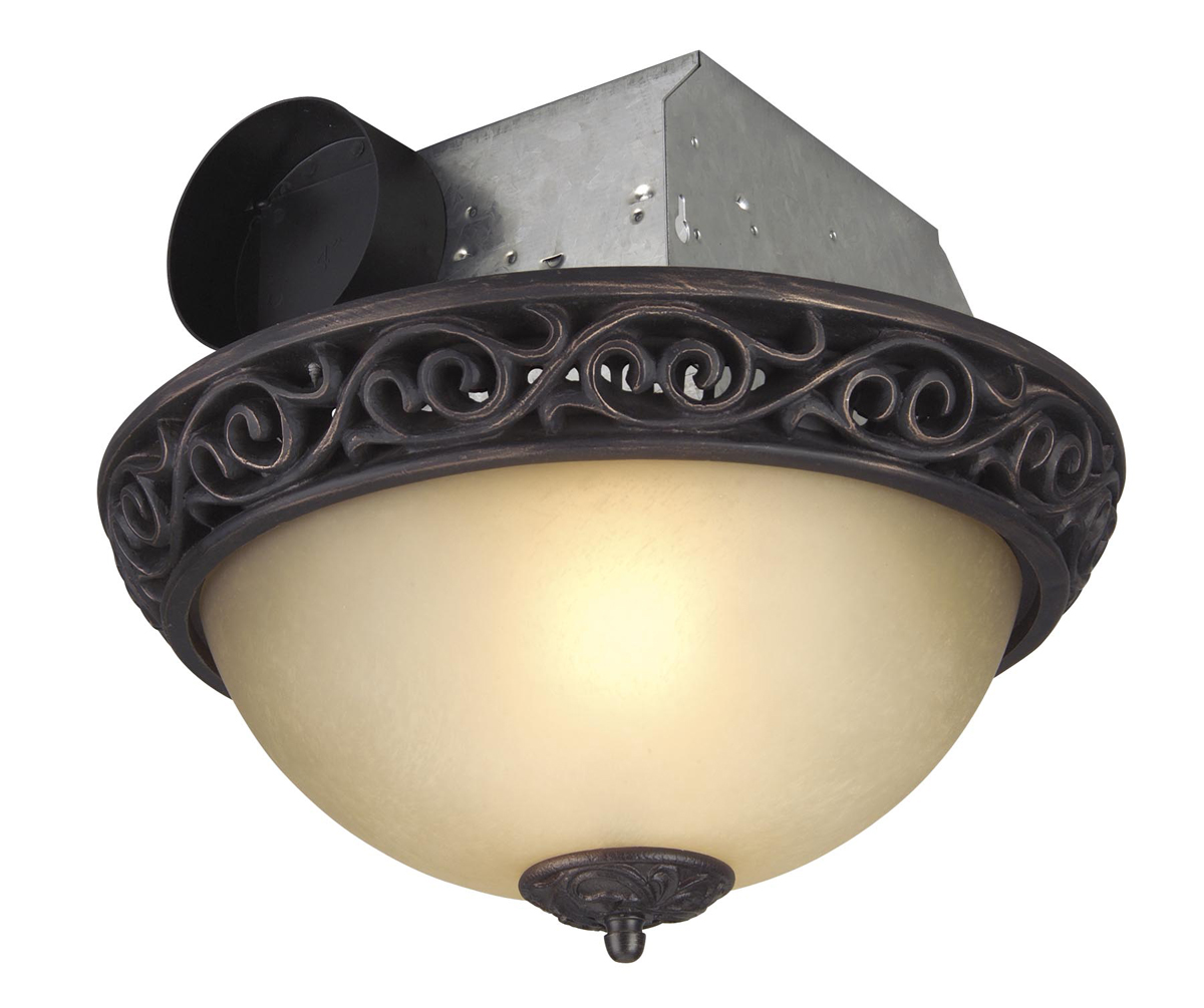 Teiber By Craftmade Tfv70l Aiorb 70 Cfm Decorative Exhaust Fan Oil Rubbed Bronze In Oil Rubbed Bronze Champagne Glass