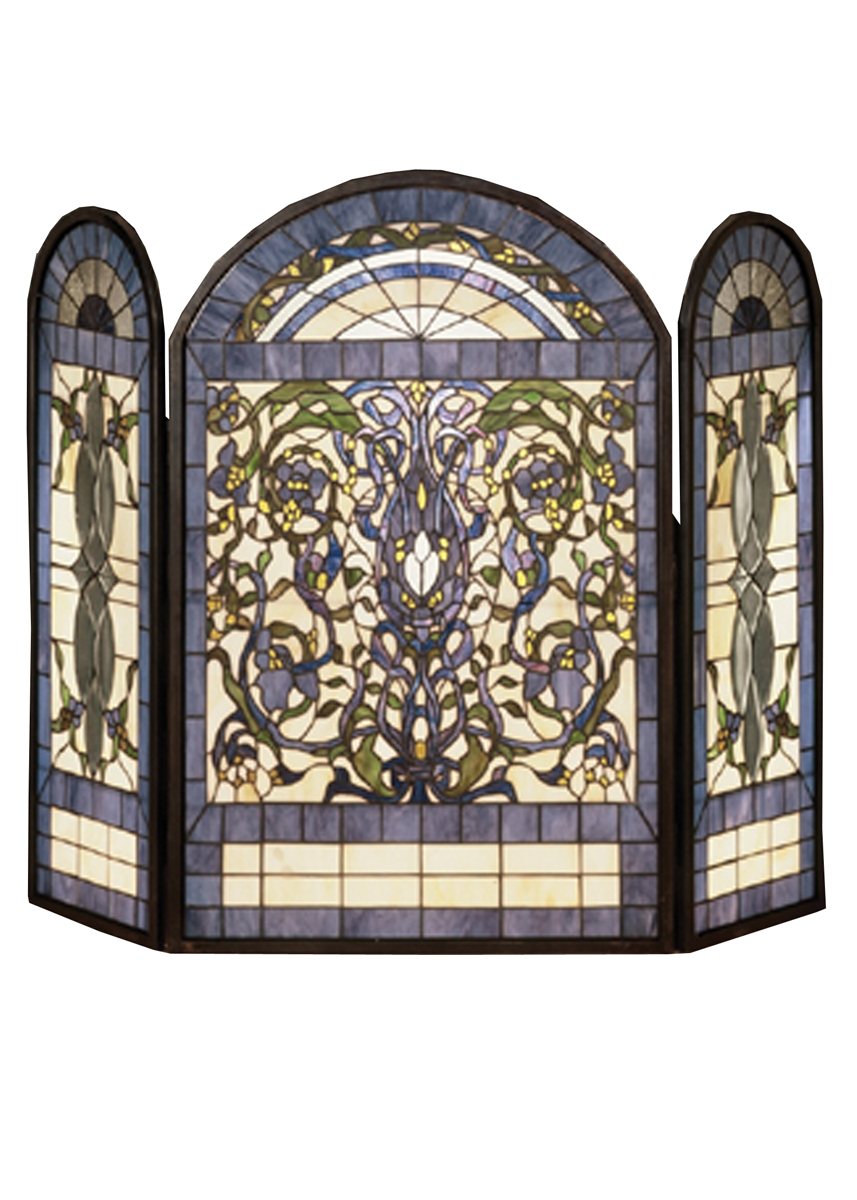 fire screens stained glass decorative fireplace screens iron fireplace screens