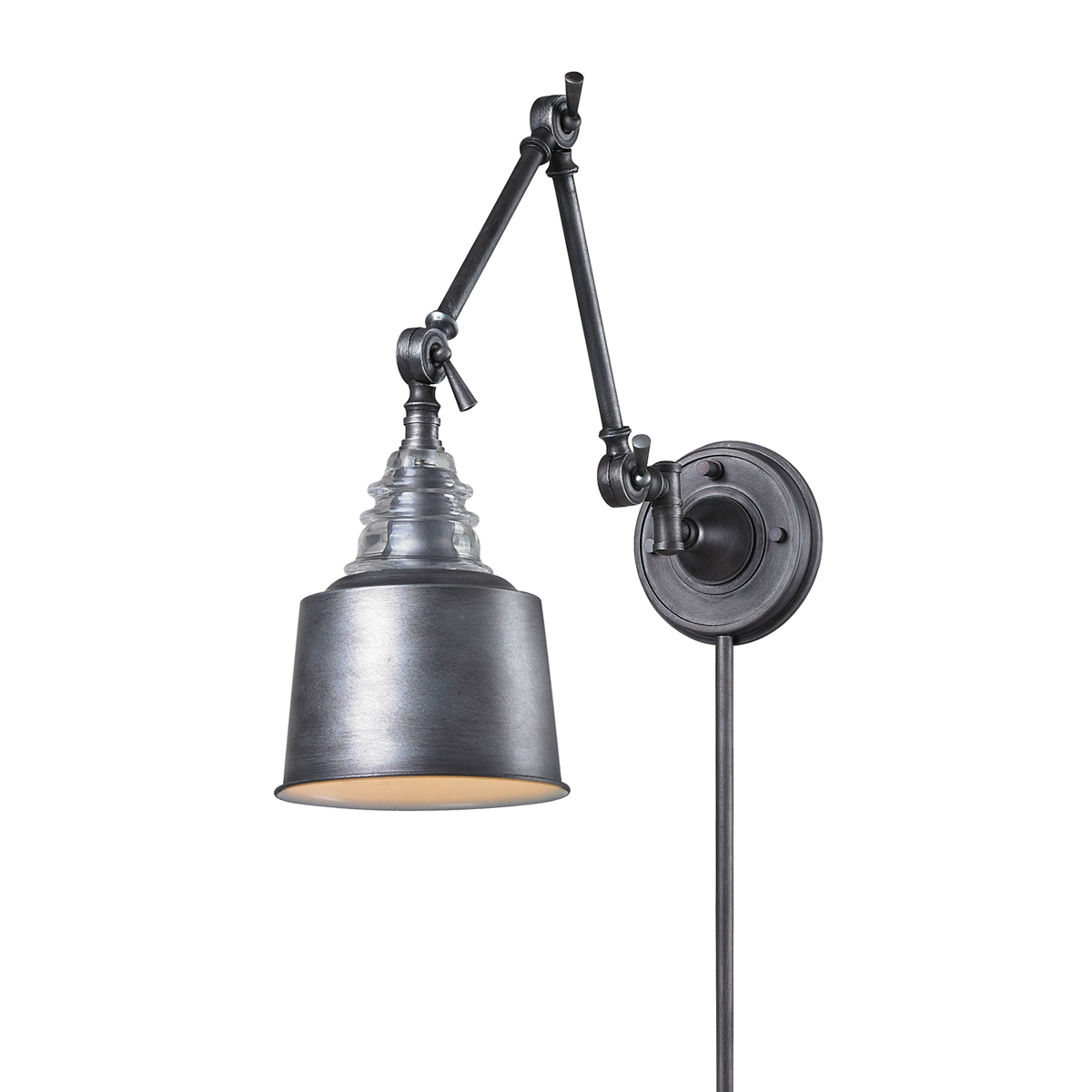 99 swing arm plug in wall lamp