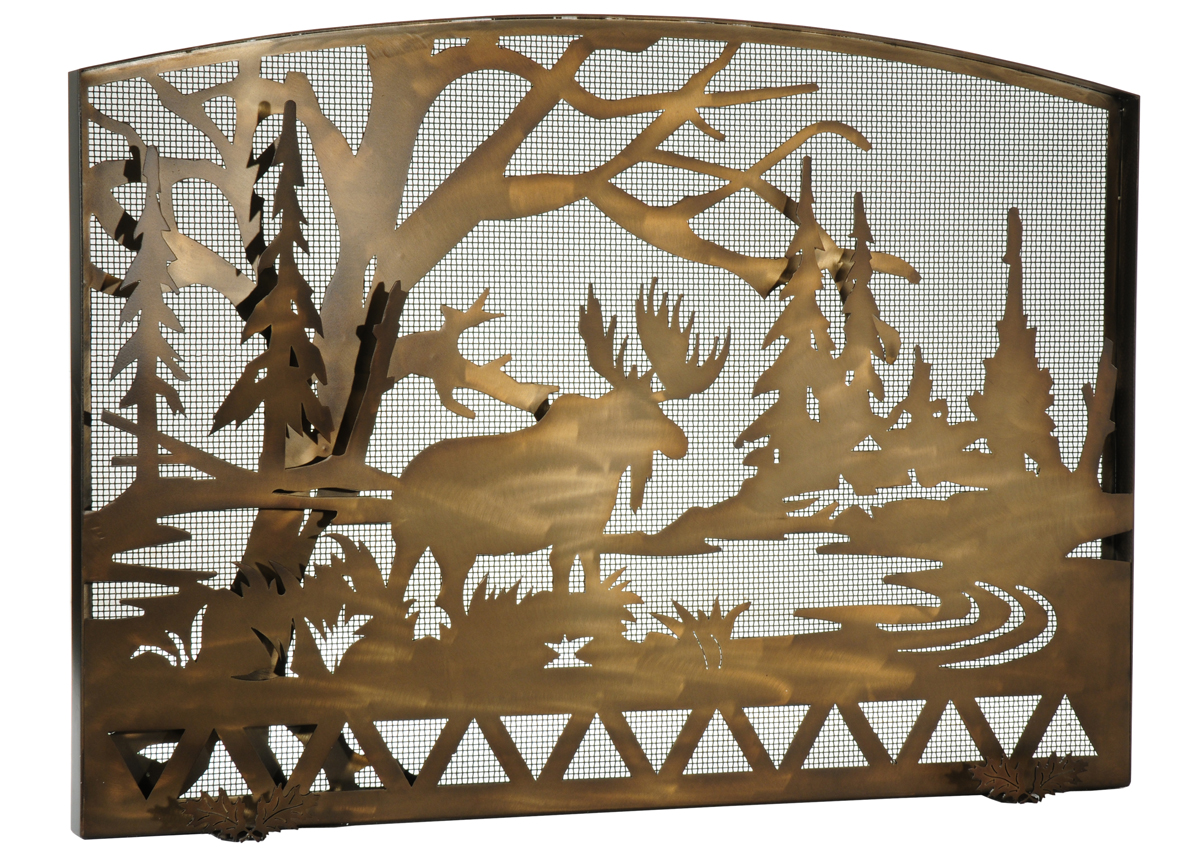 moose fireplace screen home design inspirations