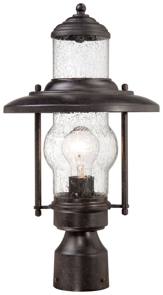 Industrial outdoor lamp - The Great Outdoors 72166 179 Settlers Way 1 Light Outdoor Post Mount