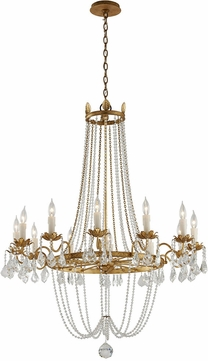 Troy Fseven Viola Traditional Distressed Gold W B Large Chandelier Lighting Tro F