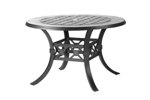 Madrid By Gensun Luxury Cast Aluminum Patio Furniture 60 Round Dining Table