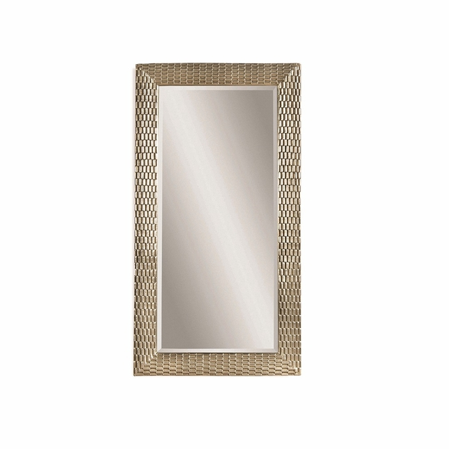 Anzio floor mirror silver leaf