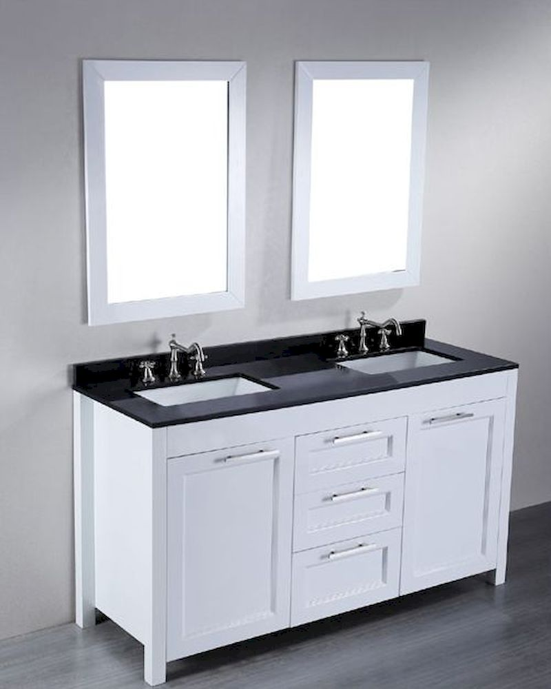 Bosconi Bathroom In Contemporary Double Vanity Bosb Seven White