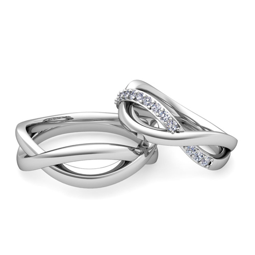 The perfect wedding bands: matching or unique images
