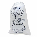 Plastic Ice Bags for Round Blocks - 10-Pound Capacity