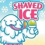 2' × 2' Shaved Ice Banner, Yeti Design