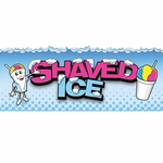 Shaved Ice Man Banner - 2' x 5'