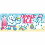 2' × 5' Shaved Ice Banner, Yeti Design