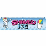 2' × 7' Shaved Ice Banner, Ice Man Design