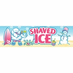 2' × 7' Shaved Ice Banner, Yeti Design
