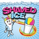 3' × 3' Shaved Ice Banner, Ice Man Design