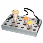 3-Way 24-Hole Universal Vend Tray with Drip Pan