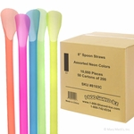 Snow Cone Spoon Straws - Case of 10,000