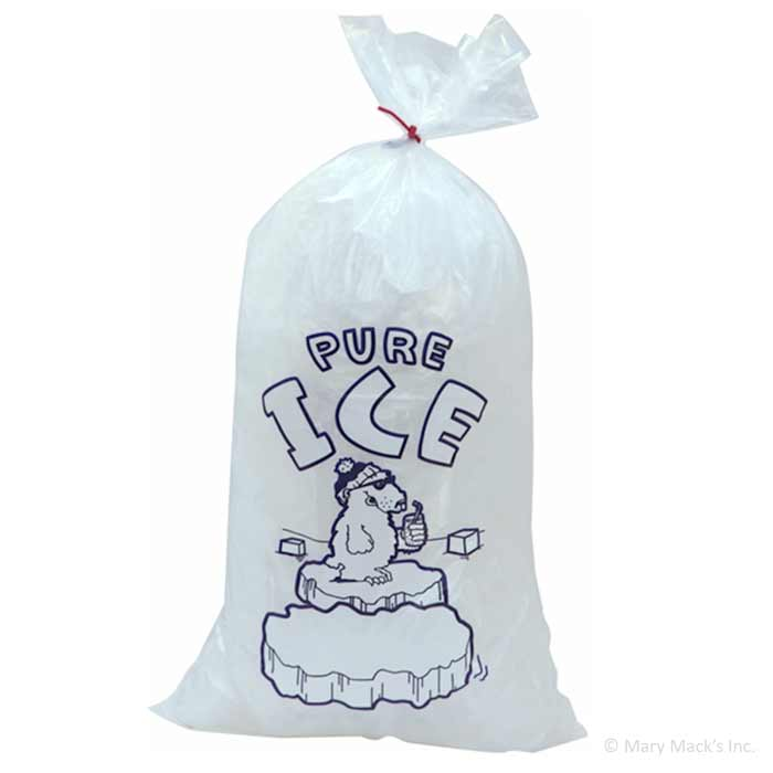 Plastic Ice Bags For Rectangle Blocks 10 Pound Capacity