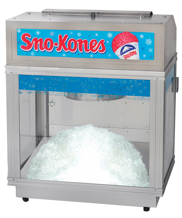 Cone ice machine shaved snow
