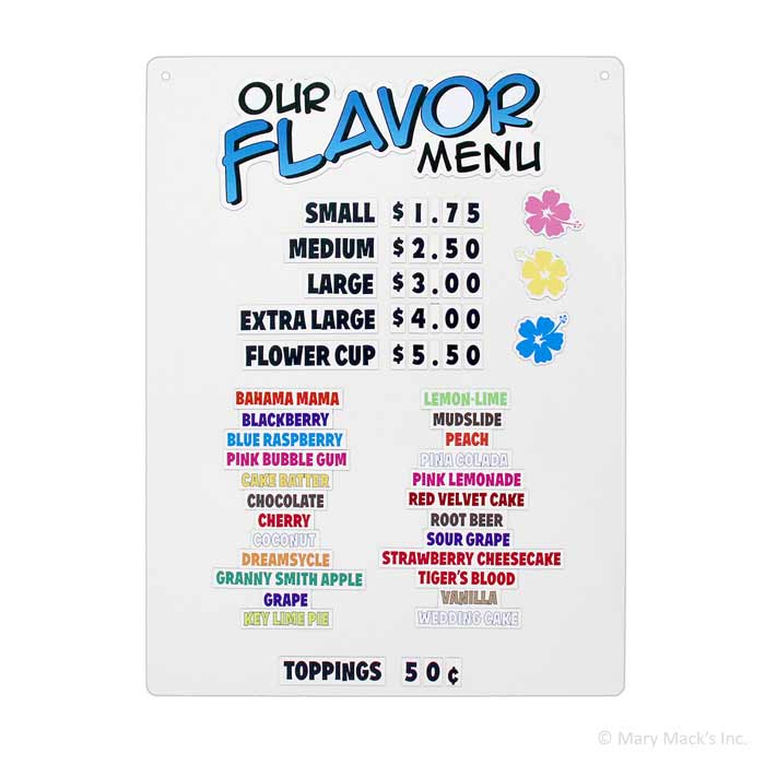 Shaved ice magnetic menu board 1 800 shaved ice shaved ice magnetic menu board mightylinksfo