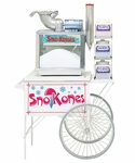 Snow Cone Cart with Wheels