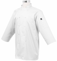 GLACIER White  3/4 Sleeve Basic Light Weight Chef Jacket