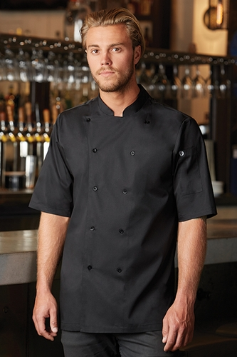 AVIGNON Black Short Sleeve Bistro Coat