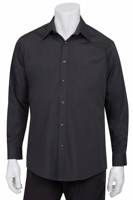Black Basic Dress Shirt