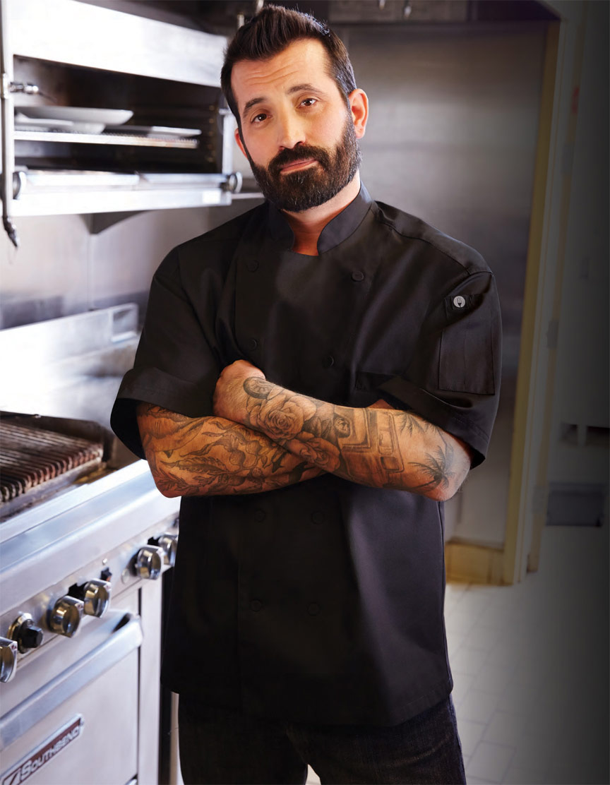 MONTREAL Cool Vent Black Chef Coat