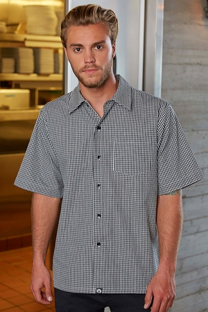 Black & White Check Cook Shirt