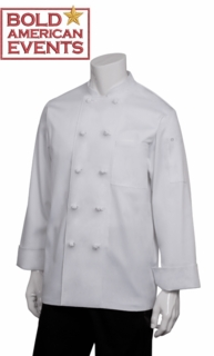 Bold American Chef Coat With Logo