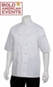 Bold American Short Sleeve Chef Coat With Logo and Personalization