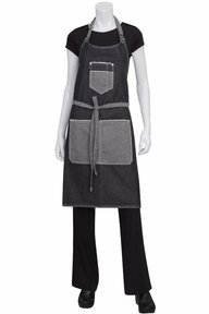 Bronx Scoop Neck Denim Bib Apron