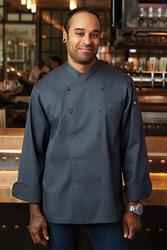 ANGUILLA Charcoal Executive Chef Coat
