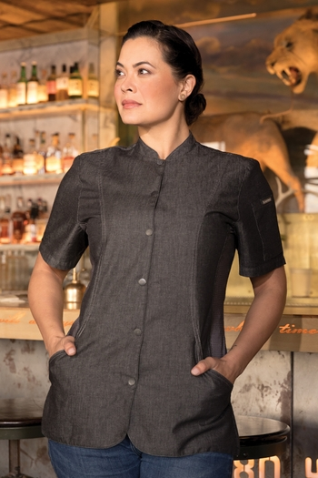 CHELSEA Womens Denim Chef Coat