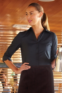 Finesse Women's 3/4-Sleeve Fitted Shirt