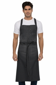 Galveston Canvas Chefs Cross Back Bib Apron