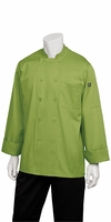 GENOVA Basic Chef Jacket in Lime Green
