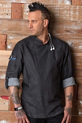 GRAMERCY Black Denim Chef Coat
