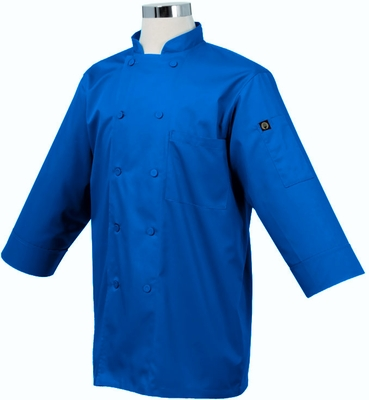 Haworth Inn CARIBBEAN Royal Blue 3/4 Sleeve Basic Light Weight Chef Jacket