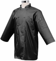 Haworth Inn JET Black 3/4 Sleeve Basic Light Weight Chef Jacket