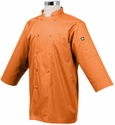 Haworth Inn ORCHARD Orange 3/4 Sleeve Basic Light Weight Chef Coat