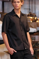 Jet BLACK Cool  Vent <br>Men's Server Shirt