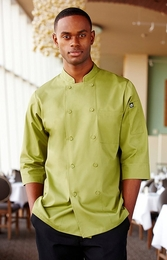 MOROCCO Lime 3/4 Sleeve Chef Jacket