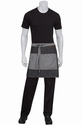 Manhattan Black Denim Half Bistro Apron